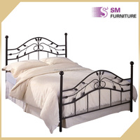 Latest new design modern queen size metal bed frame to sale