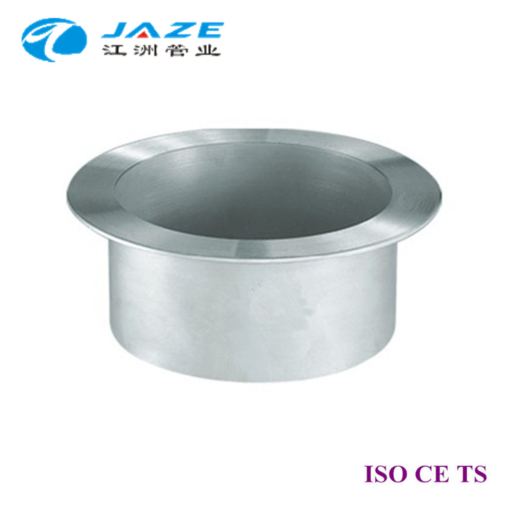 Stainless steel lap joint stub end and collar pipe fittings