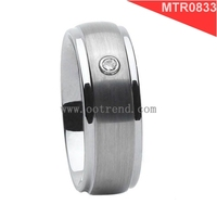 Ceramic Tungsten Inlaid NFC Smart Ring
