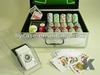 poker chip set with aluminum box for packing casino chips set