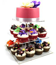 wedding cake stand crystal cardboard cupcake stand display