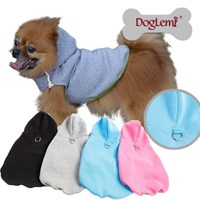 Easy on and off Dog Hoodie Harness Fleece Vest Hoody 4 different colors
