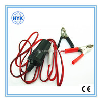 battery clip with car cigarette lighter socket/car cigarette lighter with cable & car battery terminal clips