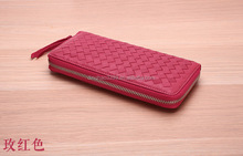 Fashion Style Women Wallet, Latest Design Lady Purse with sheepskin woven pattern