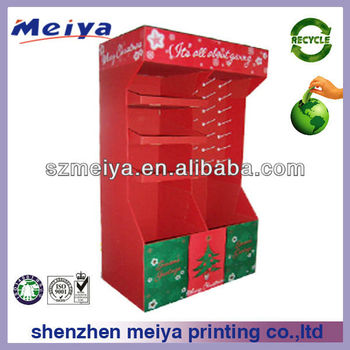 Promotional unique Christmas tree pop cardboard pallet display stand