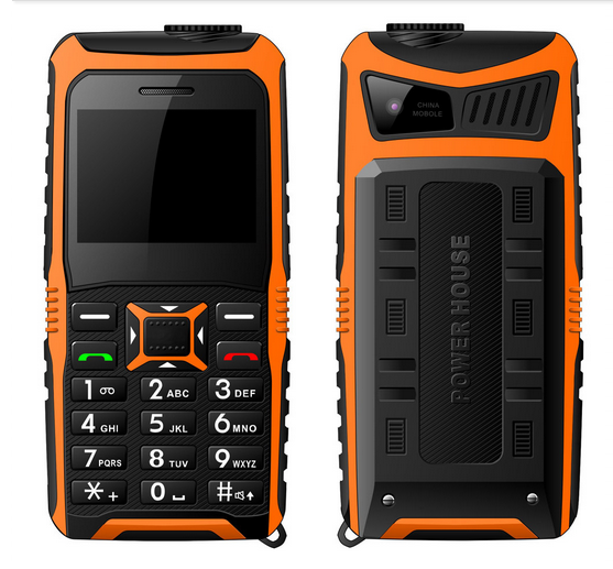 2.3 inch rugged feature phone with power house can charge power for other Smartphones