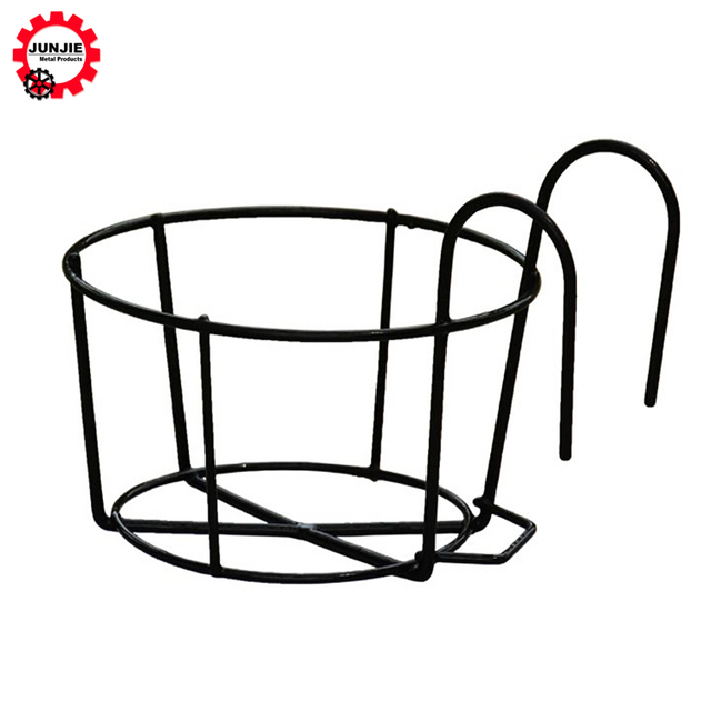 outdoor plant wrought iron white hanging flower pot wholesale