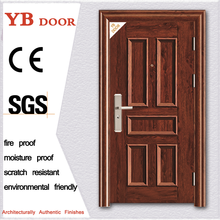 Nigeria anti theft function iron doors global housing project wood like steel security door simple smooth design
