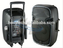 "12"" Portable Multimedia Speaker with Built-in Amplifier Rechargeable Battery BLUETOOTH FM radio"