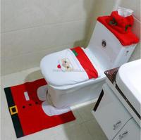 DEMIZXX428 Wholesale Santa Toilet Cover Bathroom Decoration Cute Pattern Fashion House Festival 3pcs Christmas Decorations