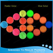 Colored Glow In The Dark Powder/Photoluminescent Pigment/Glow Pigment For Kids Toys