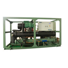 Industrial screw compressor freon chiller