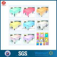 52*74'' disposable solid color tablecover banquet birthday party decoration table cloth plastic
