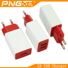 PNGXE 2016 new mobile travel 2A single dual usb wall charger for iphone and samsung