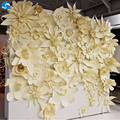 Customized sizes and color paper flower wall decoration