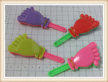 Kids plastic toy hand clapper