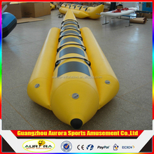 Double Tubes Inflatable Ocean Rider Banana Boat / inflatable flying fish banana boat for sale