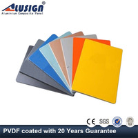 Alusign Superior Weathering Resistance fireproof plastic sheet aluminum building material