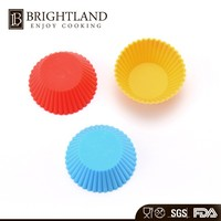 High Temperature Silicone Bakery Baking Cups Cake Mold Wholesale