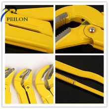 Carbon Steel Pipe Clamp Pliers Pipe Wrench Heavy Duty Pump Double Handle Pipe Clamp
