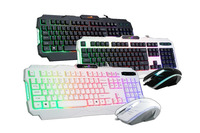 Hight quality colorful gaming keyboard and mouse combo
