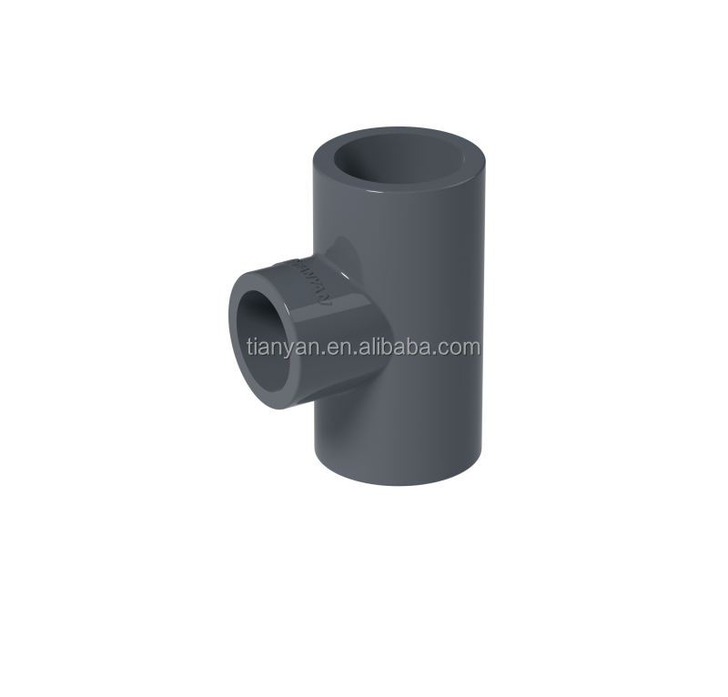 TY Factory price Manufacturer good quality PN16 Industrial Water supply PVC Plastic hdpe Fittings Rubber Joint reducing tee