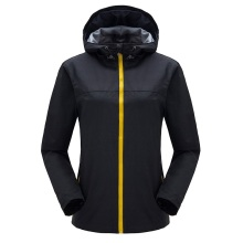 Women breathable hooded waterproof outdoor soft shell jacket