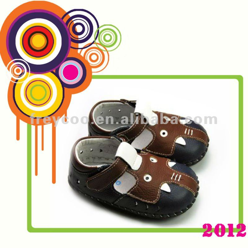 Cute baby leather sandals for boys PB-1075NV
