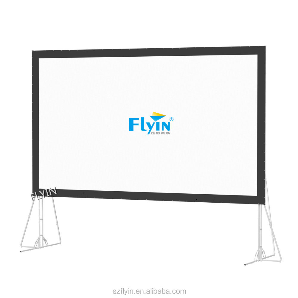 2016 New Portable Fast-Fold Truss Frame Screens Curved outdoor Projector Screen