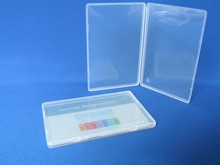low price plastic clear pp visiting card box