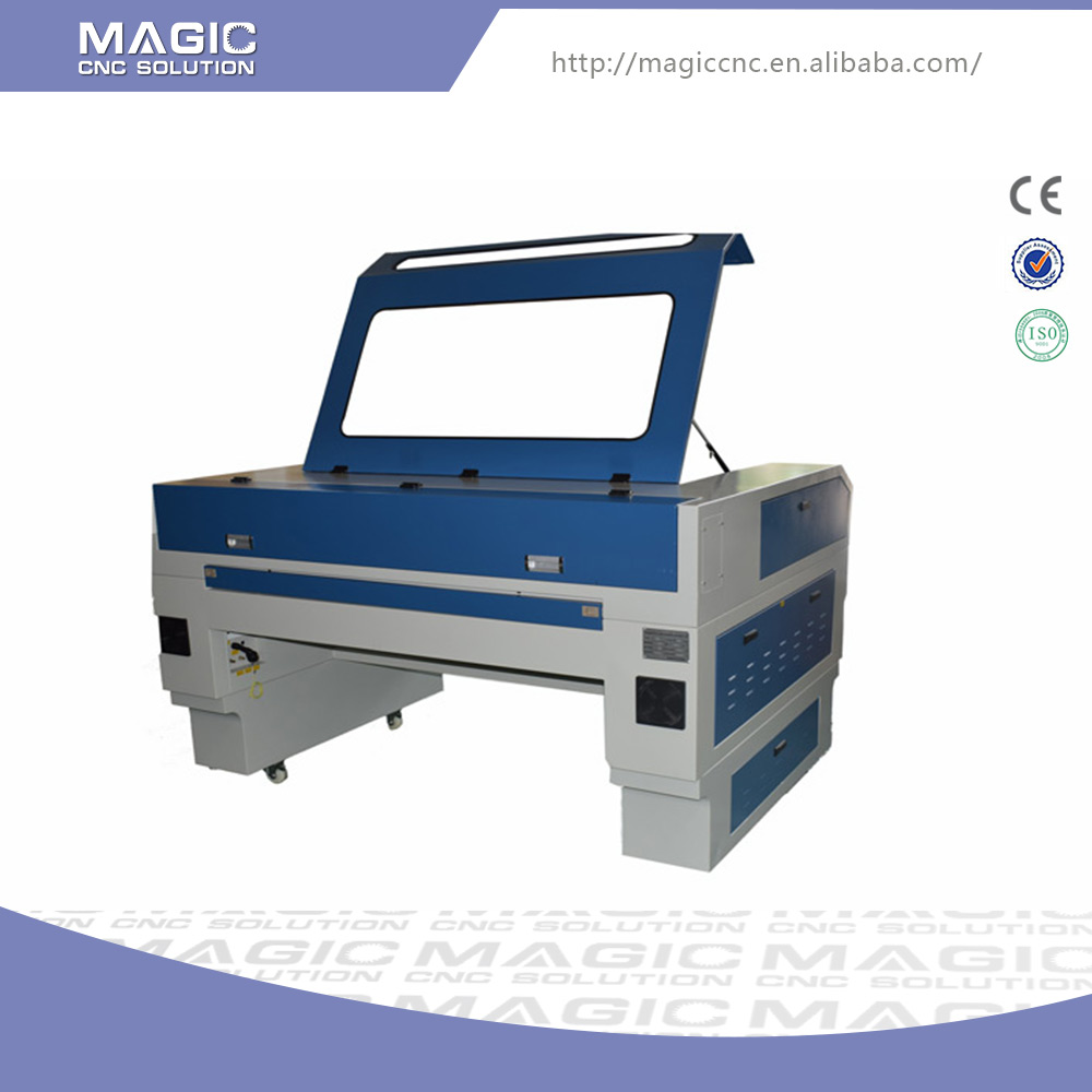 Quick turnaround fabric laser cutting engraving machine 80w cnc router