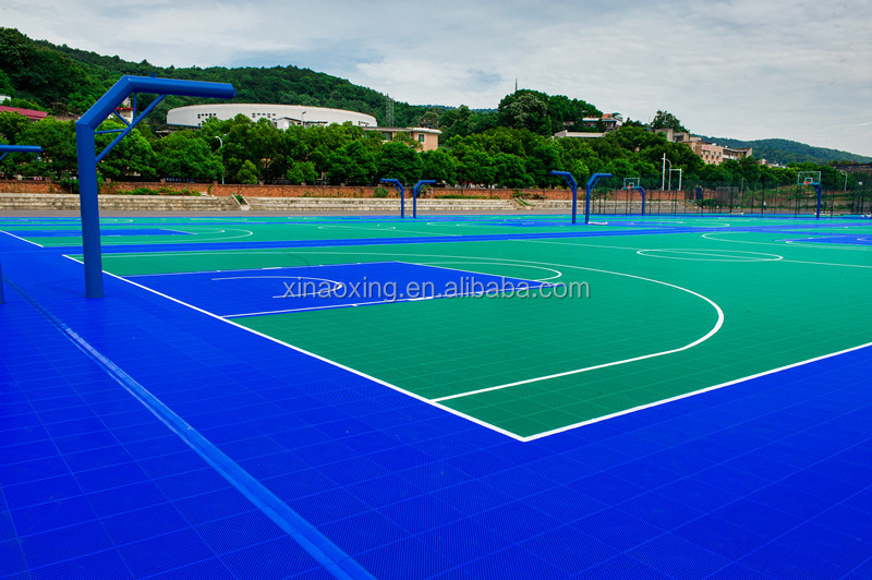 SUGE High Quality Outdoor Interlocking Basketball Flooring