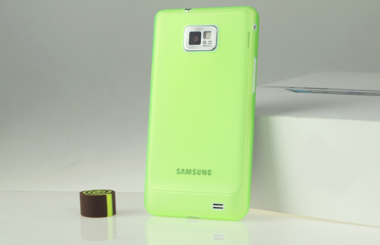 For Samsung Galaxy S2 i9100 Slim Scrub transparent cover case
