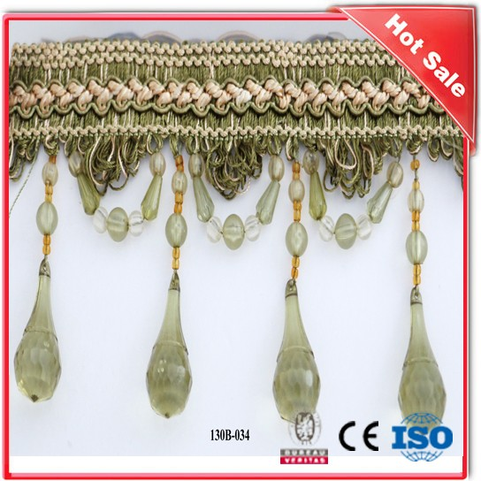 Hot Sales High Quality Home Decoration Curtain Tassel Fringe, Fringe Curtain Trimming