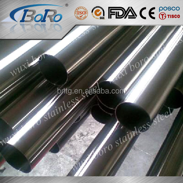 AISI top quality-201 202 304 304L 316 316L seamless stainless steel pipe