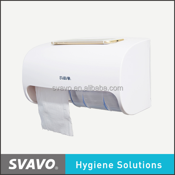 2016 New arrival double hand roll towel dispenser, small jumbo roll paper towel holder PL-151067