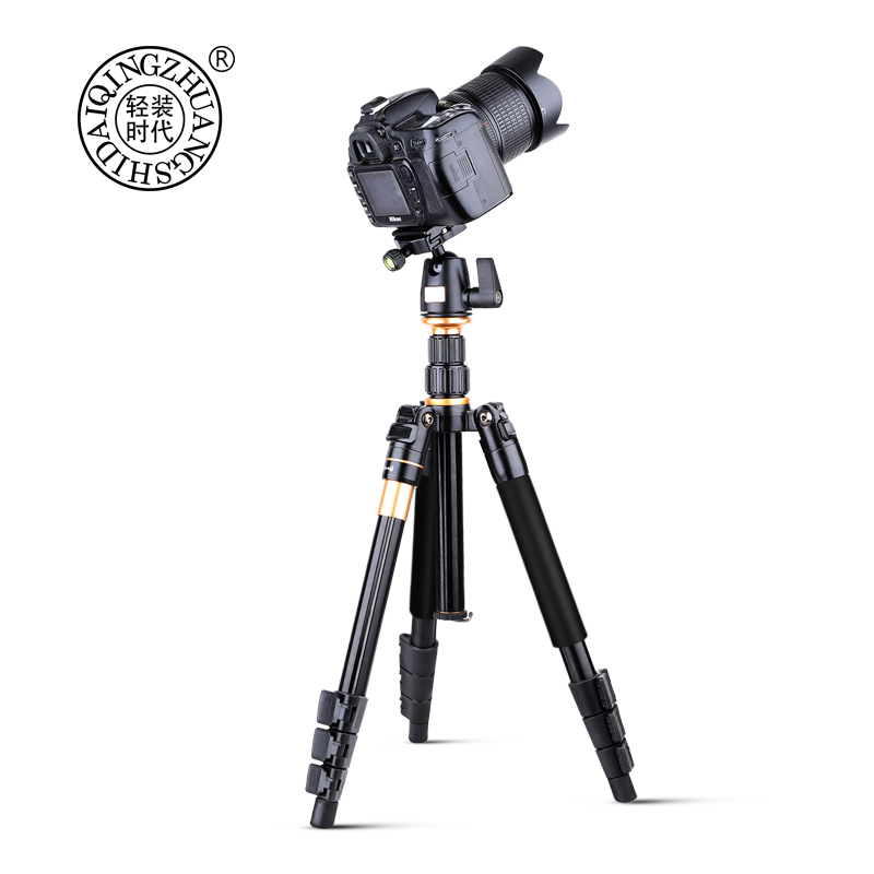 Q555 Professional Aluminum Magnesium Alloy Portable Foldable 12'' Tripod Kit For SLR Digital DV Camera Can Be Changed To Monopod