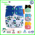 Happy Flute wholesales colth pocket diaper reusable Bamoo charcoal baby cloth diaper washable nappy