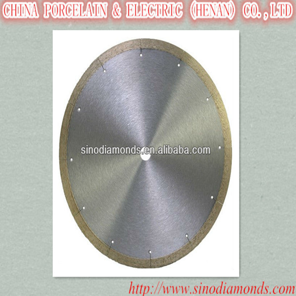 diamond circle cutting blade for ceramic lapidary tile without blowout