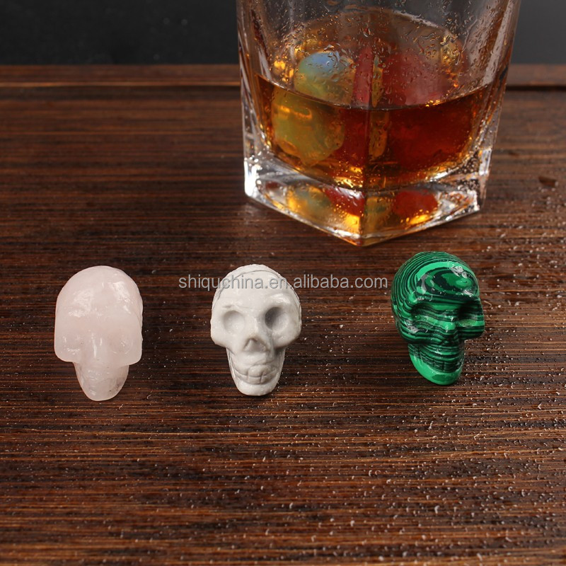 Fashionable gift for halloween quartz skull beads made in natural semi precious stone for home decorate