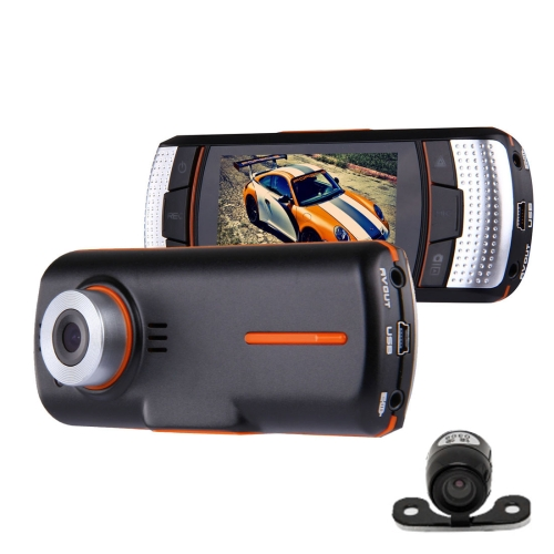 In stock cheap wholesale Car DVR Camera 2.7 inch LCD Full HD 1080P 2 Cameras 170 Degree Wide Angle Viewing