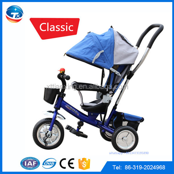 2016 Hot selling Best Safety Cheap Price Kids Push Trike Children Tricycle for Baby, Metal Frame, EVA / Air tyre Baby Tricycle