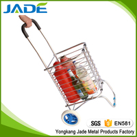 Aluminum climb stairs folding shopping cart,top level supermarket cart,cheap hand trolleys