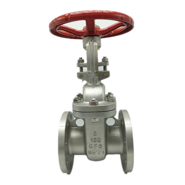 ANSI CF8 Flange End Stainless Steel Gate Valve
