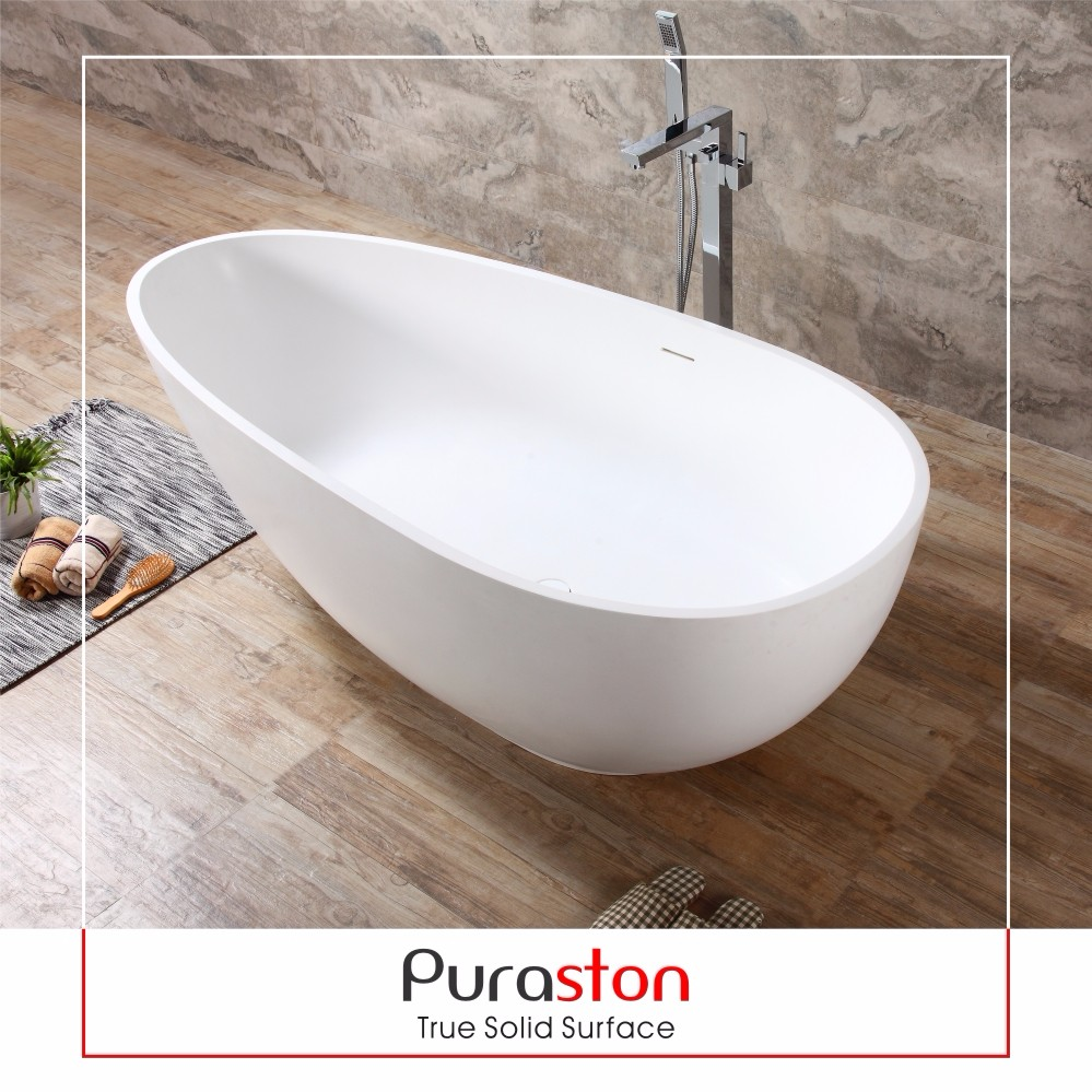 Dupont solid surface spa bathtub for one person outdoor