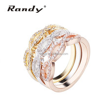 Wholesale 3 Color Interchangeable CZ Stone Newest Rings