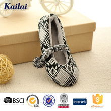 wholesale leather decorated ballet shoes