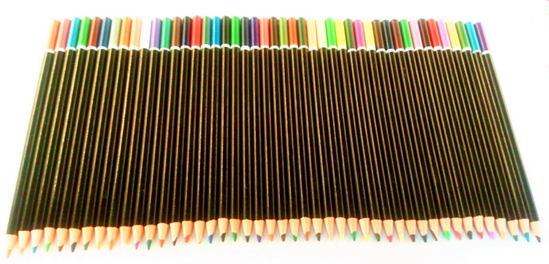 High quality red basswood color pencil 48 pcs color pencil