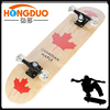 7 ply canadian maple wood skateboard,heat transfer graphic and clear grip