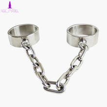 Stainless Metal Handcuffs Restraint Wrist Cuffs Shackle Slave's Bondage Gear Adult Sex Toy